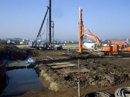長大橋地盤改良受託合併工事