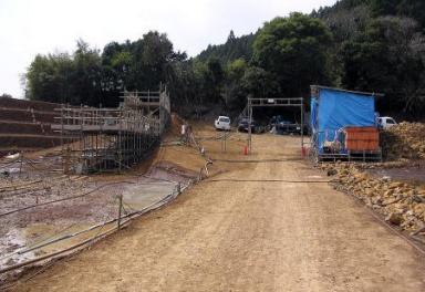 北松3期地区堂出ため池グラウト工事